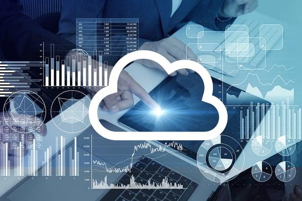 Representación de los variados tipos de almacenaje en la nube y sus usos.