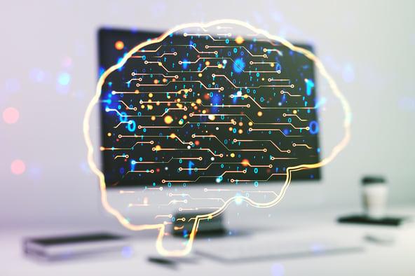 Representación gráfica de una inteligencia artificial que analiza videos para deep fakes