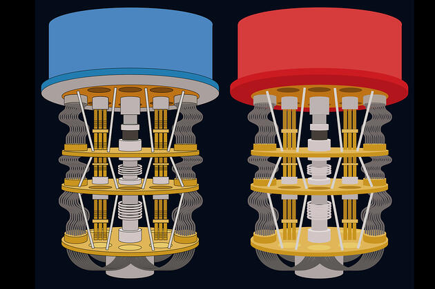 Ilustraciones de una computadora cuántica