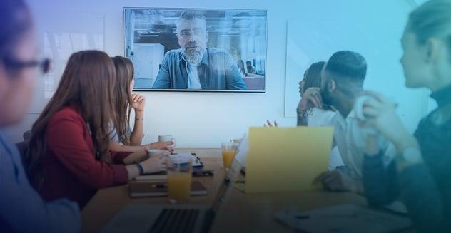 videoconferencia en una empresa