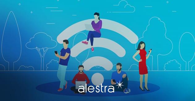 Personas acceden al WiFi público